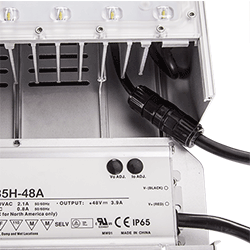 Waterproof connector for internal wiring