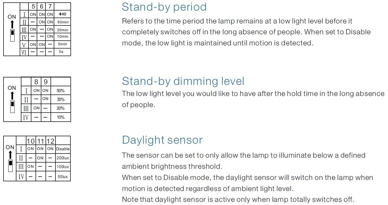 Motion Sensor Settings 2